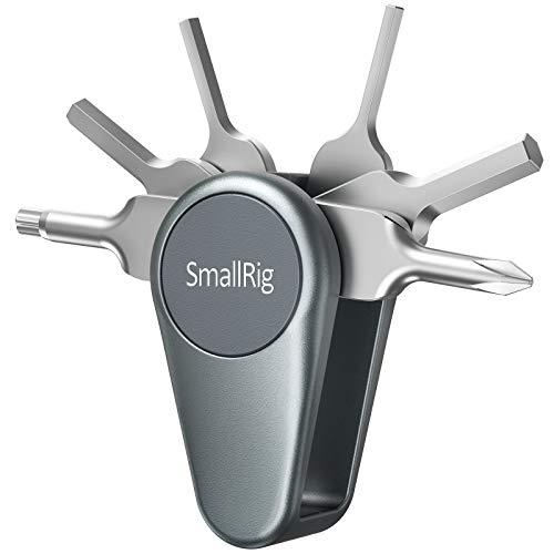 SMALLRIG Juego de Herramientas Plegables, Kit de Destornilladores Funcionales Explorer con Destornilladores y Llaves - AAK2371