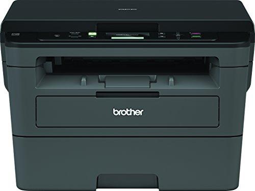 Brother DCPL2530DW - Impresora multifunción láser monocromo Wifi con impresión dúplex, 30 ppm, USB 2.0, Wifi Direct, procesador de 600 MHz, memoria de 64 MB, gris, 39.8 x 27.2 x 41 cm