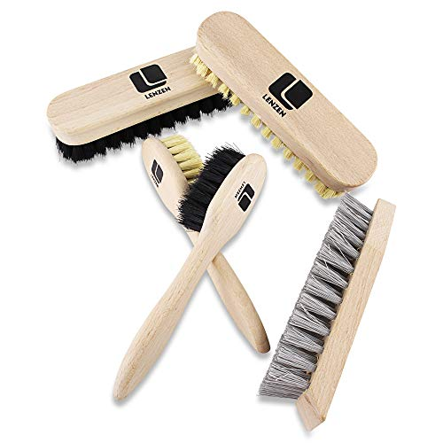 Lenzen Shoe Cleaning Kit, 5 Pieces consisting of 2 Polishing Brushes, 2...