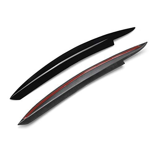 Autoscheinwerferblenden Aufkleber Auto-Scheinwerfer-Augenbraue Eyelids ABS Aufkleber Trim-Abdeckung Für V&W Für GOLF VI MK6 GTI GTR GTD 2008 2009 2010 2011 2012 2013 GTI GTR GTD ( Color : Schwarz )