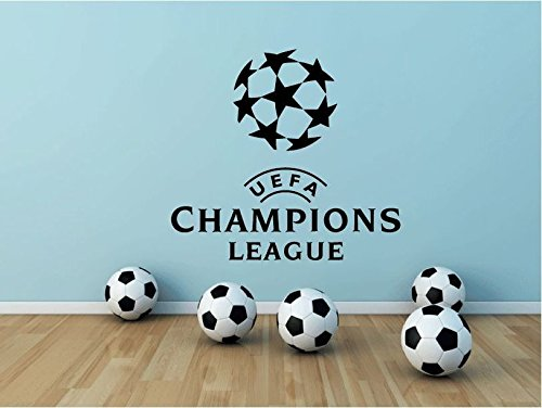 Champions League UEFA Logo Soccer Football Sport Home Decor Art Wall Vinyl Sticker 63 x 55 cm