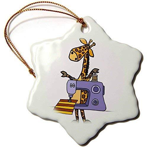 Dant454ty Giraffe Naaien Met Naaimachine Cartoon Kerst Ornamenten voor het Huis 2019 voor Vrouwen Vrienden Kids Kerstboom Ornament