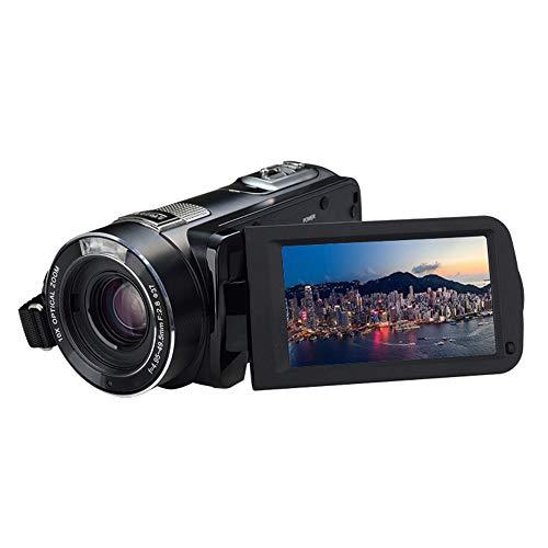 Yehyep Digitale Videokamera, 4K-Camcorder-Videokamera Mit Optischem Zoom / 3,1 Zoll IPS-HD-Touch Screen, Zeitraffer/Nachtsicht-Funktion, Unterstützung APP WiFi Für Instant-Sharing