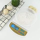 Báscula Digital para Cocina de con Pantalla LCD Balanza de Alimentos, con función de tara,alta precisión escala digital -Enchufe de 10 kg / 1 g