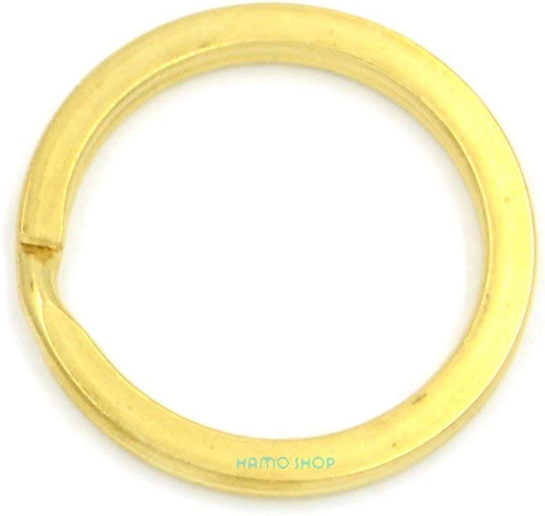 CUSHY 10pcs 35mm FlatSplit Key Ring Keyring Findings Metal Holder