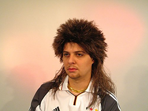 Men's wig, brown mullet