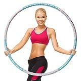 Hula Hoop Fitness Adultos,Ajustable Acero Inoxidable Weighted Hoola Hoop,6 Secciones Professional Hula Hoop Desmontable, Aro para Adultos para Perder Peso y Hacer Ejercicio y Masaje