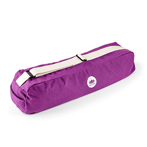 Lotuscrafts Yoga Mat Bag PUNE - Fair & Ecological - Yoga Bag Made of 100% Organic Cotton - Yoga Bag for Yoga Mat - Yoga Mat Cover - Yoga Mat Carrier Bag - Yoga Equipment Bag - GOTS Certified