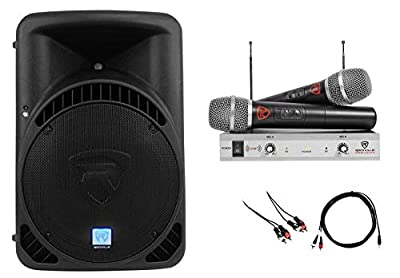 "Rockville Powered 15"" iphone/ipad/Android/Laptop/T.V. Karaoke Machine/System"