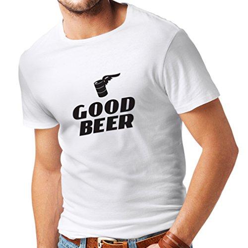 lepni.me Männer T-Shirt Ich Brauche EIN gutes Bier, Geschenk für Bierliebhaber Partykleidung (Large Weiß Schwarz)