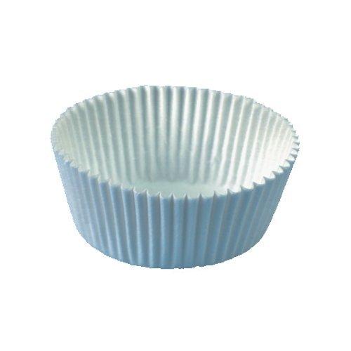200 Backförmchen Ø 5 cm · 2,5 cm weiss - Muffin-Backformen, Cupcake-Backformen