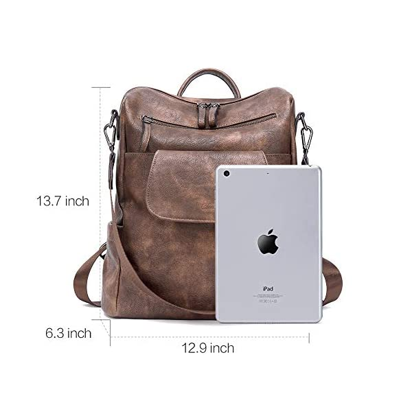 CLUCI Backpack Purse for Women Fashion Leather Designer Travel Large Convertible Ladies Shoulder Bags 3