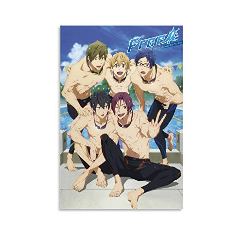 Free! - Iwatobi Swim Club Anime Art Canvas Art Poster and Wall Art Picture Print Modern Family Bedroom Decor Posters 08x12inch(20x30cm)