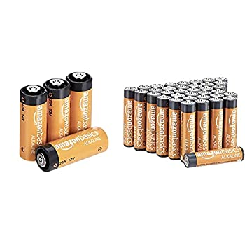 Amazon Basics 23A Alkaline Battery - Pack of 4 & 36 Pack AAA High-Performance Alkaline Batteries 10-Year Shelf Life Easy to Open Value Pack