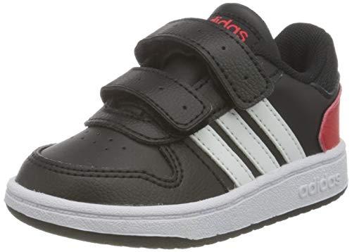 adidas Hoops 2.0 CMF Sneaker, Core Black/Cloud White/Vivid Red, 33 EU