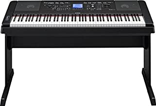 YAMAHA DGX660B 88-Key Weighted Digital Piano With Furniture Stand,Black