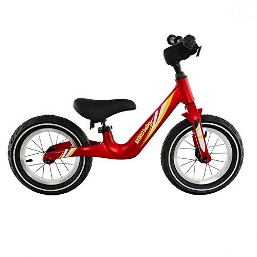 EUROBABY Bicicleta sin pedales para niños, color rojo