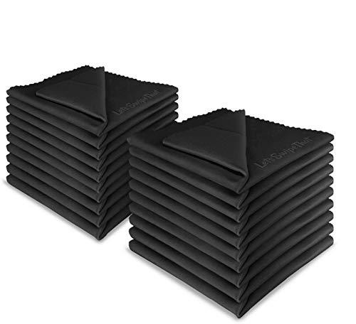 20x LetsSwipeThat Mikrofasertücher - 20x20 cm Mikrofaser Brillenputztuch. Kamera Objektiv Microfaser Reinigungstücher. LCD, Led TV Bildschirm Microfasertuch Reinigung. Laptop pc Display Reiniger Tuch