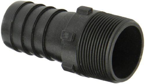 Dixon Valve HB150 Polypropylene Shank/Water Fitting, Tuff-Lite King Combination Nipple, 1-1/2' NPT End x 1-1/2' Hose ID Barbed
