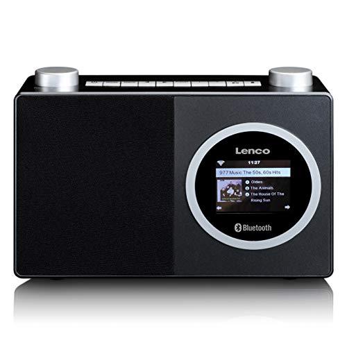 "Lenco DIR 70 - tragbares Internetradio - DAB+ Radio - Retro Digitalradio - WLAN - Bluetooth - 2,4"" Farbbildschirm - 3 Watt RMS - 4 Senderspeicher - App Steuerung via AirMusic - Schwarz"