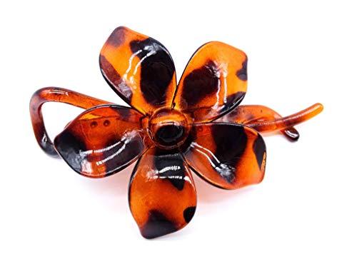 irresistible1 Pince à cheveux élégante en forme de fleur brillante avec chignon tortue 11 cm
