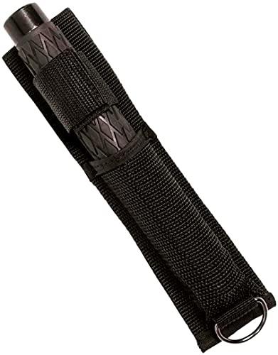SenzaMa Bastone Estensibile Baton in Metallo Allungabile Manganello Telescopico con Fodero (Medio 20-53 cm)