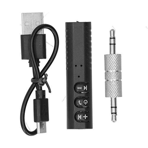 Receptor de música Bluetooth para automóvil, Adaptador de Audio inalámbrico portátil con AUX de 3,5 mm para Auriculares, para transmisión de música estéreo para automóvil/hogar