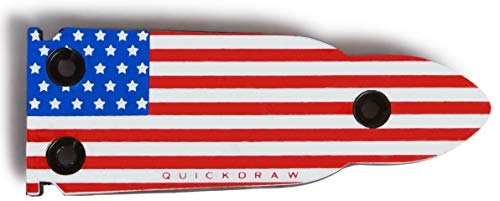QuickDraw Bullet Shaped Rubber Coated Magnetic Gun Mount - 35LB Pull Strength Rating - Compatible with Most Firearms and Easy Installation (Red, White, and Blue Flag)