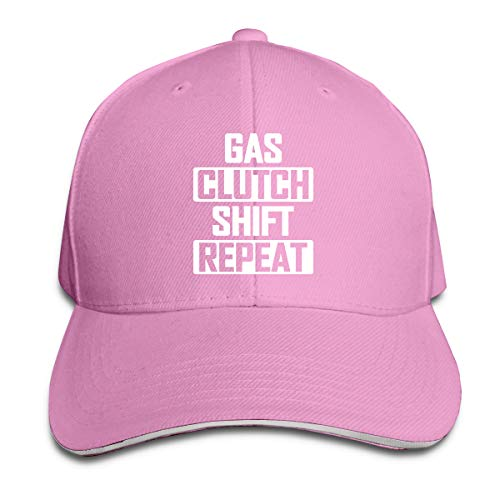 GFGS LKKG Gas Clutch Shift Repeat Unisex Hats Trucker Hats Dad Baseball Hats Driver Cap Pink