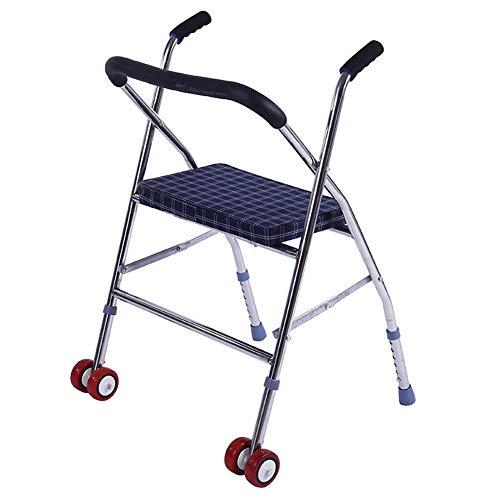 FMXYMC Klappbarer Gehwagen für Senioren - Erwachsener Gehwagen - Tragbarer medizinischer Gehwagen auf Rädern