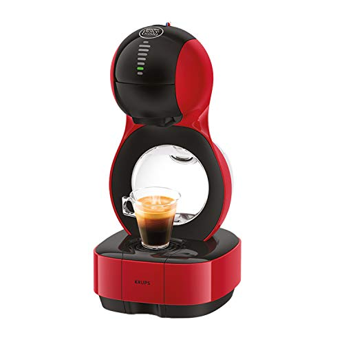 Krups Nescafé Dolce Gusto Lumio Kapselmaschine KP1305 | Kompakte Kaffeemaschine | 1 L Wassertank | 15 Bar Druck | Rot