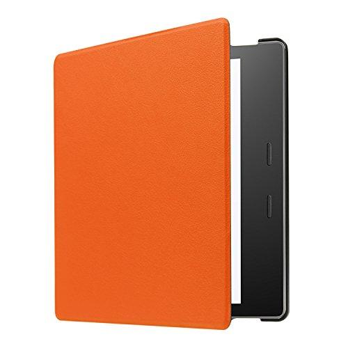 Yobby Hülle für Amazon Kindle Oasis 7 Zoll 2019/2017,Ultradünn Leder Tasche Folio Stand Schutzhülle [Eckenschutz] Auto Schlaf/Wach Funktion für Amazon Kindle Oasis 7 Zoll 2019/2017-Orange