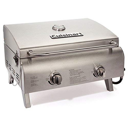 Cuisinart CGG-306 Chefs Style Stainless Tabletop Grill (Renewed) Grills Propane