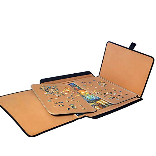 Jigsaw Puzzle case Puzzle Board- Ingooood Easy Move Storage Jigsaw Puzzle mat Work Separate Puzzle Board for up to 1,000 Pieces Durable jigboard