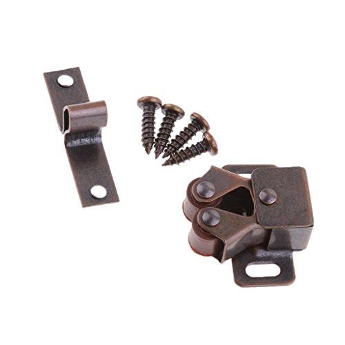 Doppelrollen Verschluss Schrankverschluss Wohnwagen Riegel mit Schrauben - Rot