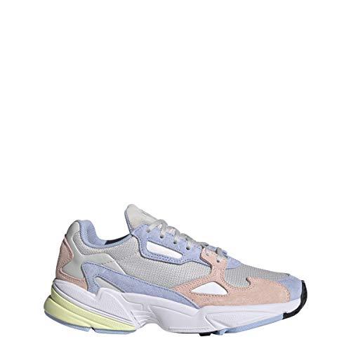 adidas Zapatillas Falcon W para mujer, color gris, color Blanco, talla 37 1/3 EU