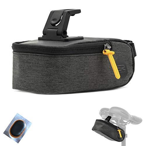 maxxi4you Selle Royal Saddle Bag Small (0.6 L) Saddle Bag Bicycle Bag Clip System Including 1 Hose Patch
