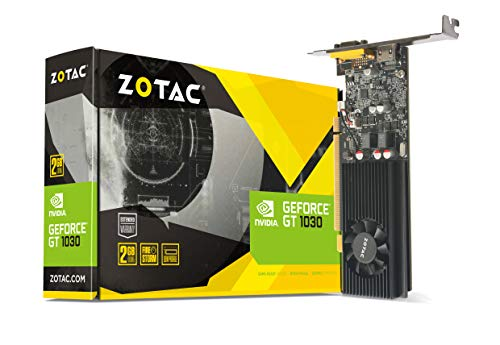 Zotac GeForce GT 1030 LP Grafikkarte (NVIDIA GT 1030, 2GB GDDR5, 64bit, Base-Takt 1227 MHz / Boost-Takt 1468 MHz, 6 GHz, Low Profile)