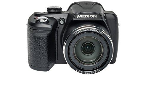 MEDION X44022 Brückenkamera 20MP CCD 5152 x 3864Pixel Schwarz - Digitalkameras (20 MP, 5152 x 3864 Pixel, CCD, 35x, HD, Schwarz)