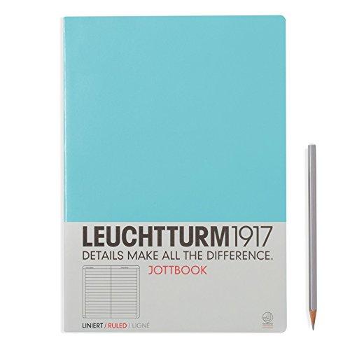 LEUCHTTURM1917 339905 Jottbook, Notizheft, DIN A4, Hellblau, Liniert