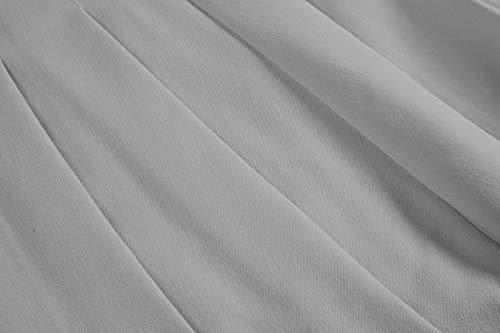 EXCHIC Mujer Plisado Cintura Alta Casual Patinador Estilo Universitario Faldas (Gris, S)