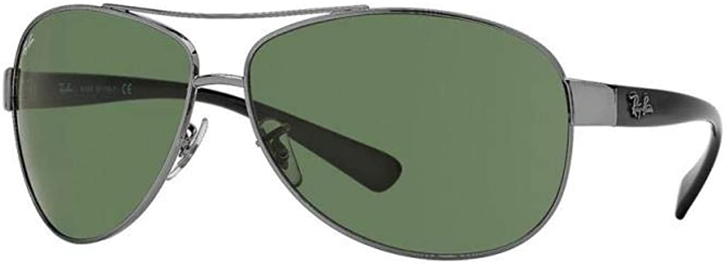 Ray-Ban Large special price !! Aviator Wrap Sunglasses free shipping Dark 71 Silver RB3386 004 Green