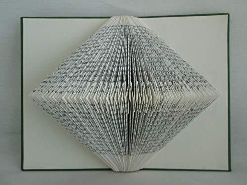 Bild / 3D-Wand-Skulptur aus gefaltetem Buch, z.B. als Geschenk für Geburtstag/Weihnachten/für Buchliebhaber, oder als Dekoration