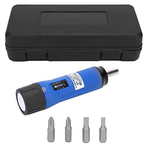 Fafeicy ZSQ-6 Destornillador dinamométrico, llave preestablecida portátil de 156 mm, puntas reemplazables, con aviso de alarma audible
