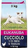 Eukanuba Cibo Secco per Cuccioli in Crescita, per Cani di Taglia Piccola, Ricco di Pollo F...
