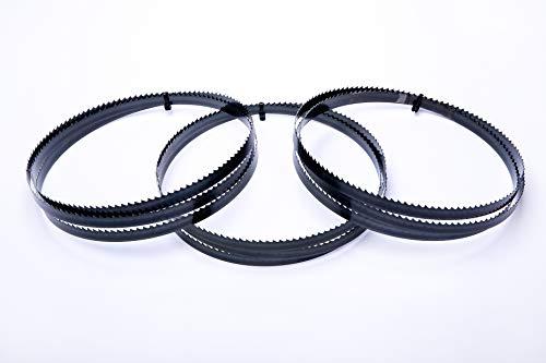 Juego de 3 hojas de sierra de cinta Encut de alto rendimiento, 2240 x 16 x 0,65 mm, acero para herramientas de 4 dientes para madera, etc. para cinta de sierra Elektra Beckum Metabo Güde