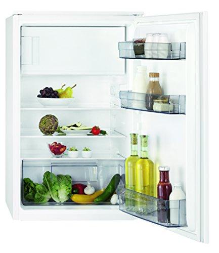 AEG SFB48811AS Kühlschrank / 109 Liter Kühlraum / 14 Liter 4-Sterne Gefrierfach / integrierbarer Kühlschrank mit Gefrierfach / kleiner Einbaukühlschrank mit Glasablagen / Klasse A+ / H: 88 cm / weiß