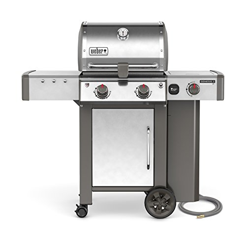 Weber 65004001 Genesis II LX S-240 Natural Gas Grill, Stainless Steel, Two-Burner