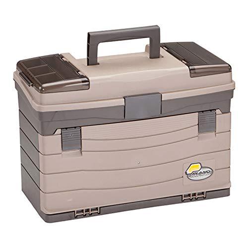 Plano Werkzeugsystem mit vier Schubladen, hochwertige Geräteaufbewahrung und Werkzeugorganisierung, Premium-Aufbewahrungslösung für Angelzubehör.