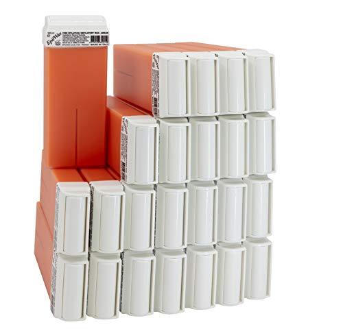 EpilWax Lot de 24 Cartouches de Cire en Roll-On à l'Argan pour Épilation - 100 ml